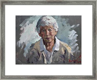 Kind Lady Framed Print by Ylli Haruni