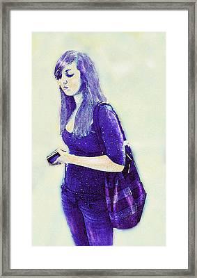 Kind Of Blue Framed Print by Jane Schnetlage