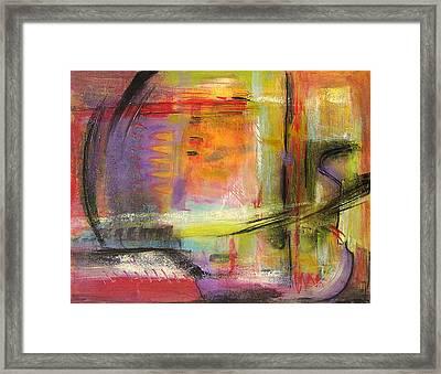 Kindness Of Strangers Abstract Framed Print by Blenda Studio