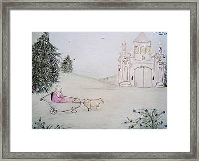 King And Castle Framed Print by Christine Corretti