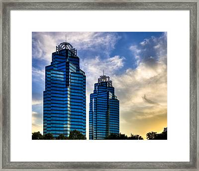 King And Queen Towers - Atlanta Framed Print by Mark E Tisdale