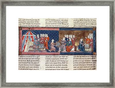 King Arthur & Guinevere Framed Print by Granger
