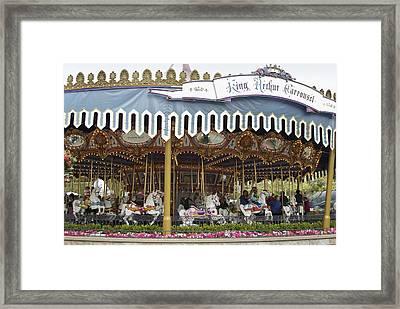 King Arthur Carrousel Fantasyland Disneyland Framed Print by Thomas Woolworth