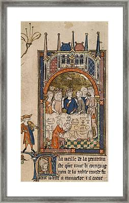 King Arthur's Feast Framed Print by British Library