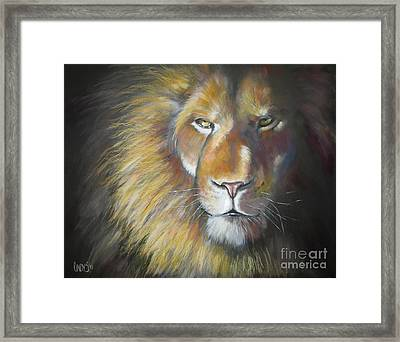 King Framed Print by Tamer and Cindy Elsharouni