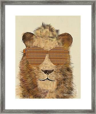 King Cool Framed Print by Bri B