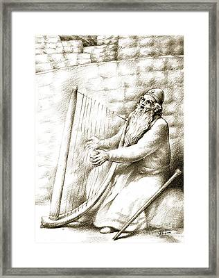 King David Framed Print by Alex Tavshunsky