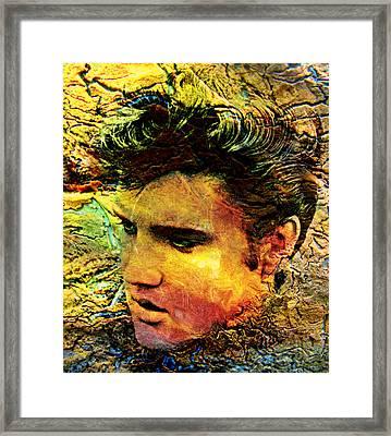 King Elvis Framed Print by Ally  White