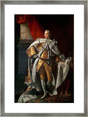 King George IIi 1738-1820 C.1762-64 Oil On Canvas Framed Print by Allan Ramsay