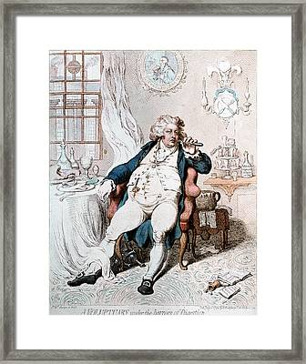 King George Iv Of England Framed Print by Granger
