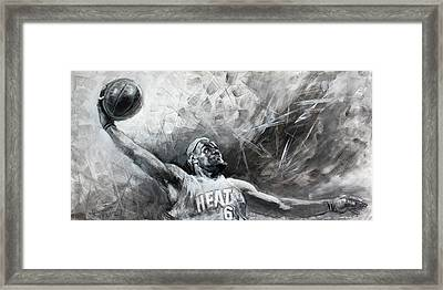 King James Lebron Framed Print by Ylli Haruni