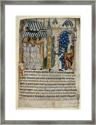 King John Is Offered Poison Framed Print by British Library
