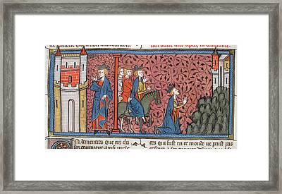 King Louis Ix Of France Framed Print by British Library