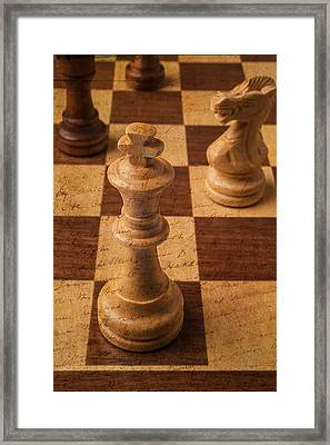 King Of Chess Framed Print by Garry Gay