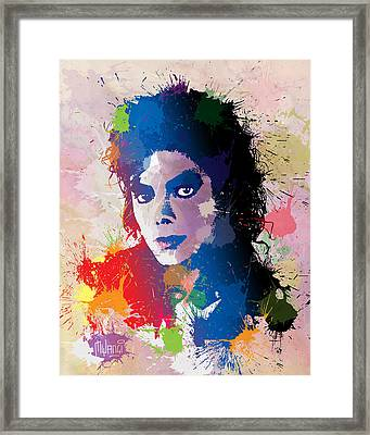 King Of Pop Framed Print by Anthony Mwangi
