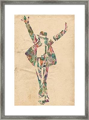 King Of Pop In Concert No 11 Framed Print by Florian Rodarte