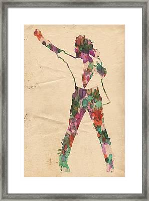 King Of Pop In Concert No 2 Framed Print by Florian Rodarte