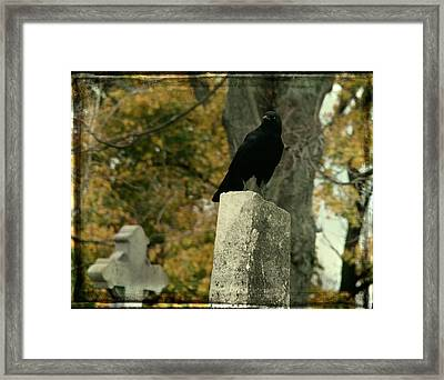 King Of The Graveyard Framed Print by Gothicolors Donna Snyder