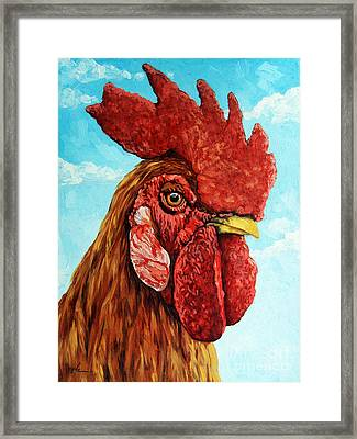 King Of The Roost Framed Print by Linda Apple