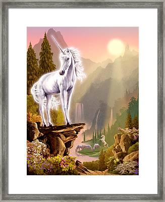 King Of The Valley Framed Print by Garry Walton