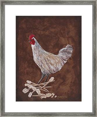 King Richard The Rooster Framed Print by Barbara St Jean