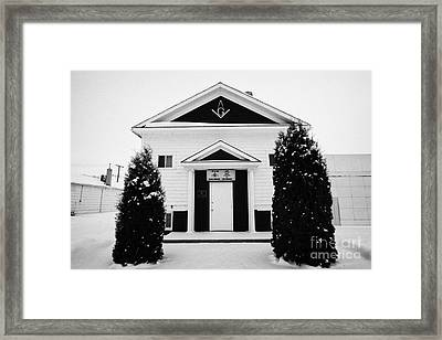 king solomon masonic lodge Kamsack Saskatchewan Canada Framed Print by Joe Fox