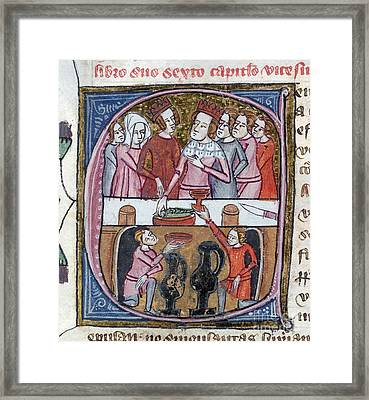 Kings And Queens Feasting, Artwork Framed Print by British Library