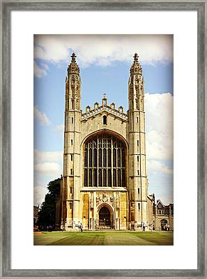 King's College Chapel Framed Print by Stephen Stookey