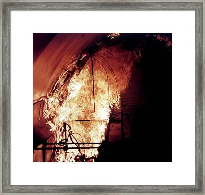 King's Cross Fire Simulation Framed Print by Crown Copyright/health & Safety Laboratory Science Photo Library