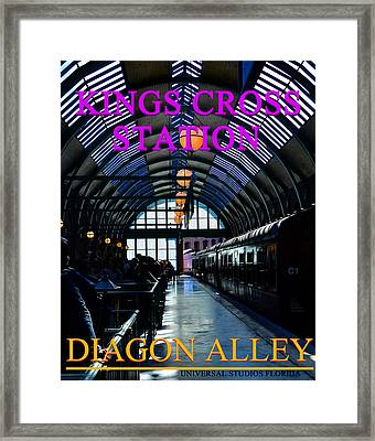 Kings Cross Sation Poster Framed Print by David Lee Thompson