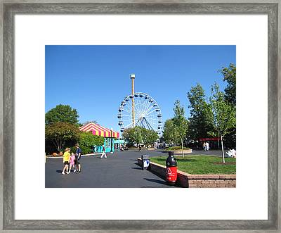 Kings Dominion - Drop Tower - 12122 Framed Print by DC Photographer