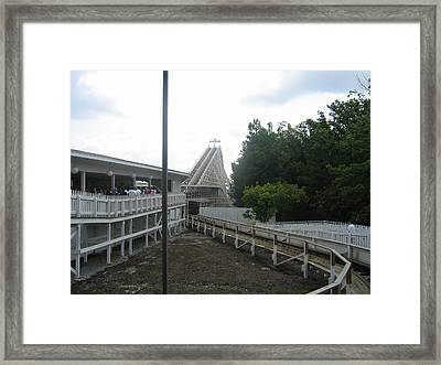 Kings Dominion - Rebel Yell - 01131 Framed Print by DC Photographer