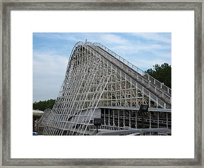 Kings Dominion - Rebel Yell - 12121 Framed Print by DC Photographer