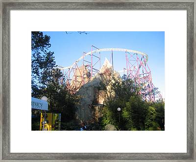 Kings Dominion - Volcano - 01132 Framed Print by DC Photographer
