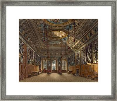Kings Guard Chamber, Windsor Castle Framed Print by Charles Wild