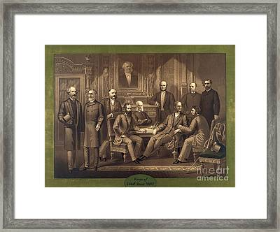 Kings Of Wall Street 1882 Framed Print by Padre Art