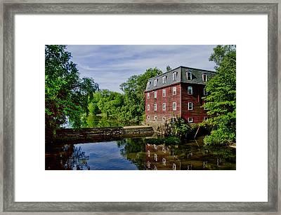Kingston Mill Near Princeton New Jersey Framed Print by Bill Cannon