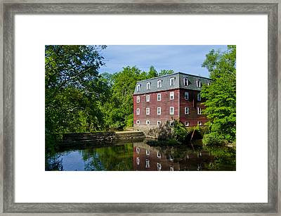 Kingston Mill Princeton Nj Framed Print by Bill Cannon