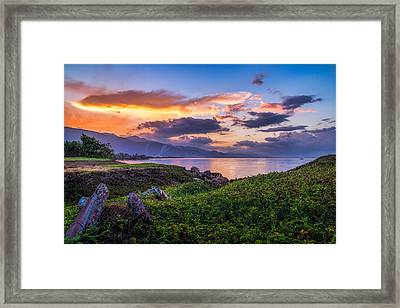 Kingston Sunrise Framed Print by Lechmoore Simms