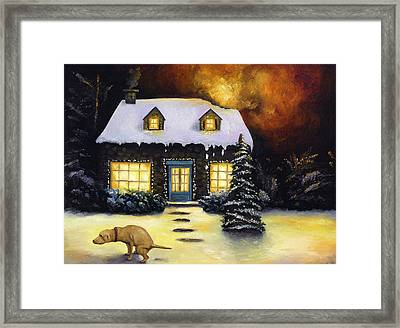 Kinkade's Worst Nightmare Framed Print by Leah Saulnier The Painting Maniac