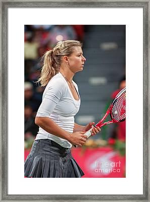 Kirilenko In Doha Framed Print by Paul Cowan