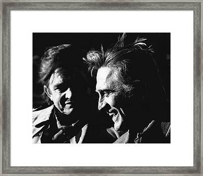 Kirk Douglas Laughing Johnny Cash Old Tucson Arizona 1971 Framed Print by David Lee Guss