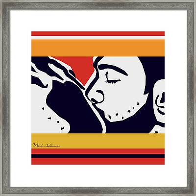 Kiss 2 Framed Print by Mark Ashkenazi