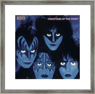 Kiss - Creatures From The Night Framed Print by Epic Rights