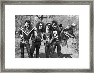 Kiss - Group Early Years Framed Print by Epic Rights
