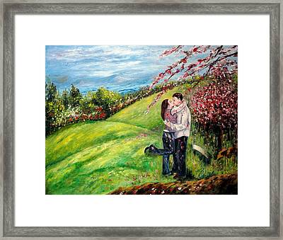 Kiss Framed Print by Harsh Malik