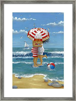 Kiss Me Quick Framed Print by Peter Adderley