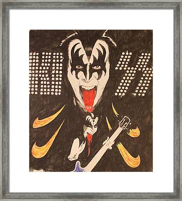Kiss Framed Print by Michael McGrath
