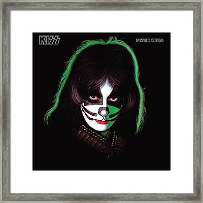 Kiss - Peter Criss Framed Print by Epic Rights