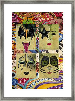 Kiss The Band Framed Print by Corporate Art Task Force
